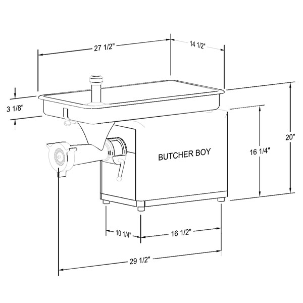 Butcher Boy TCA22 1-1/2HP Table Top Meat Grinder